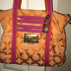 Coach Bags - orange/pink Coach purse